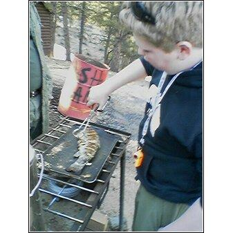 Alexander 08 Cooking a Trout the Scouts Caught