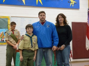 New Boy Scout joining the troop