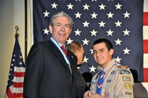 Jared with Mr. Douglas Jones Denver Area Council President