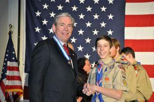 Josh with Mr. Douglas Jones Denver Area Council President