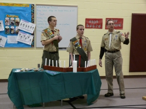 Beginning the Court of Honor Ceremony