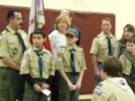 Scouts achieving Tenderfoot Rank