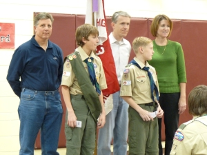 Scouts achieving 2nd Class Rank