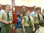 Scouts achieving 1st Class Rank