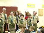 Scouts acheiving Star Rank