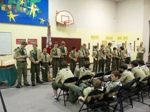 Receiving Merit Badges