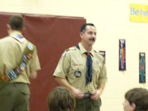 Johnny receiving Polar Bear award