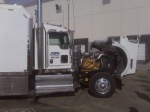 Semi-Truck Open Engine